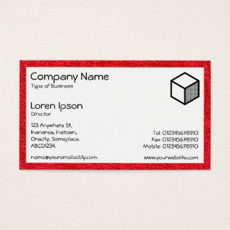 Rectángulo - alfombra roja tarjeta de negocios