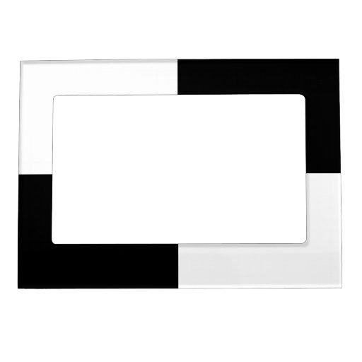 Rectángulos blancos y negros marcos magneticos para fotos
