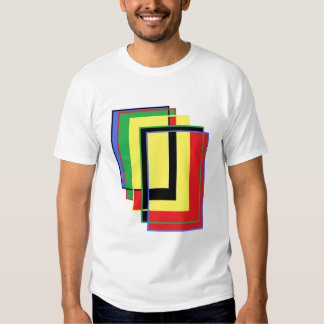 rectángulos coloreados tridimensionales camisas
