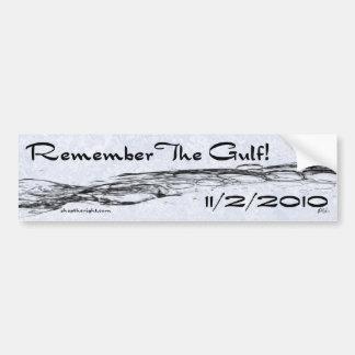 Recuerde el golfo Bumpersticker Pegatina Para Coche