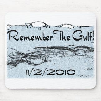 Recuerde el golfo Mousepad Tapetes De Ratón