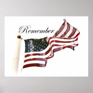 Recuerde el Memorial Day - cruces dentro de la vie Posters