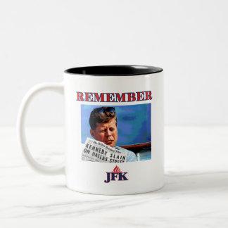 RECUERDE JFK TAZA BICOLOR