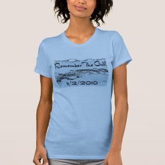 Recuerde la ropa #2 de las señoras del golfo camiseta