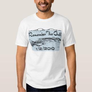 Recuerde la ropa de la oscuridad del golfo camiseta
