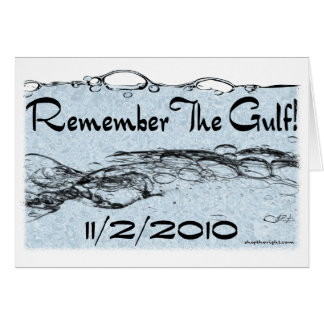 Recuerde la tarjeta del golfo