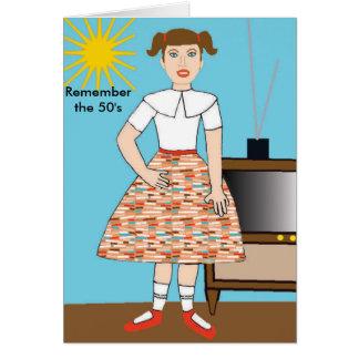 Recuerde los años 50 tarjeta de felicitación