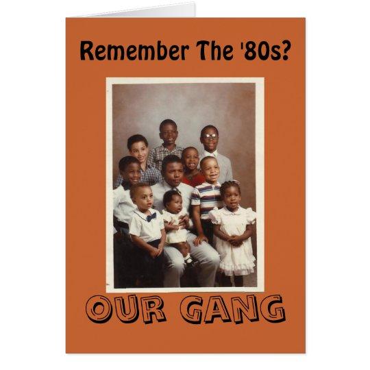 ¿Recuerde los años 80? Nuestra tarjeta de