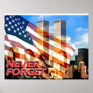 Recuerde los attentados terroristas del 11 de sept póster