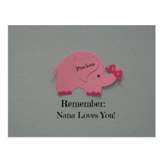 Recuerde: ¡Nana le ama! Postal