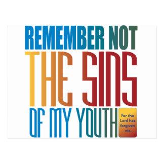 Recuerde no los pecados de mi juventud postal