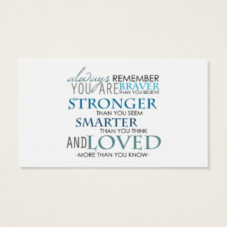 Recuerde siempre que usted es la mejor tarjeta del