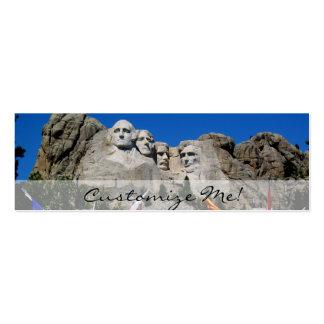Recuerdo adaptable de la foto del monte Rushmore Tarjetas De Visita Mini