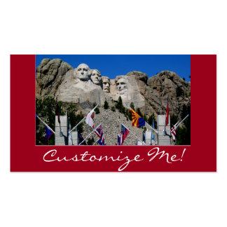 Recuerdo adaptable de la foto del monte Rushmore Tarjetas De Visita