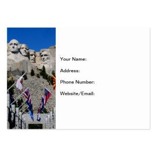 Recuerdo adaptable de la foto del monte Rushmore Tarjetas De Visita Grandes