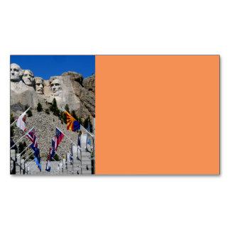 Recuerdo adaptable de la foto del monte Rushmore Tarjetas De Visita Magnéticas (paquete De 25)