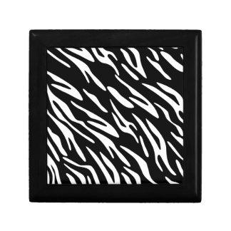Recuerdo blanco y negro del estampado de zebra caja de regalo
