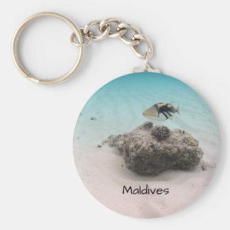 Recuerdo coralino subacuático fresco de los llavero