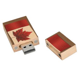 Recuerdo de Canadá de memoria USB de la bandera de