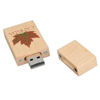 Recuerdo de Canadá de memoria USB de la hoja de