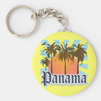 Recuerdo de ciudad de Panamá Llavero Redondo Tipo Chapa