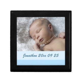 Recuerdo de encargo azul Giftbox de la foto del be Joyero Cuadrado Pequeño