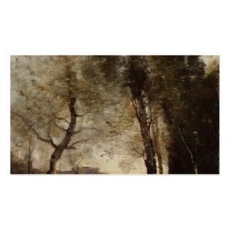 Recuerdo de Italia de Camilo Corot Plantilla De Tarjeta Personal