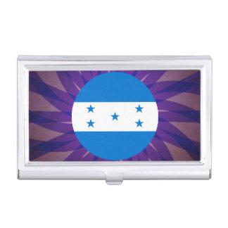 Recuerdo de la bandera del Honduran Caja De Tarjetas De Visita