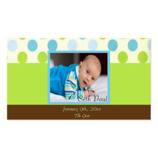 Recuerdo de la foto del bebé del lunar tarjetas de visita