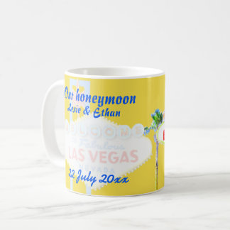 Recuerdo de la luna de miel de Las Vegas Taza De Café