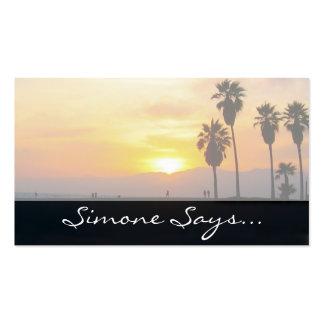 Recuerdo de la puesta del sol de California de la Tarjetas De Visita