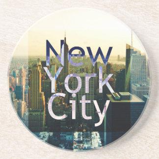 Recuerdo de New York City Posavasos De Arenisca