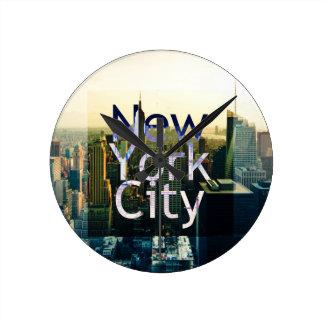 Recuerdo de New York City Reloj Redondo Mediano