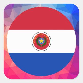 Recuerdo de Paraguay Pegatina Cuadrada