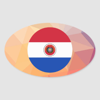 Recuerdo de Paraguay Pegatina Ovalada