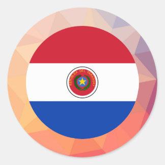 Recuerdo de Paraguay Pegatina Redonda