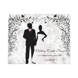 Recuerdo del boda o del aniversario impresión en lienzo