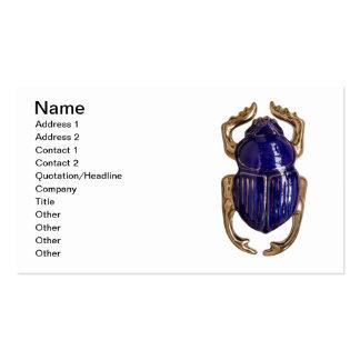 Recuerdo del escarabajo tarjeta de visita