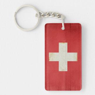 Recuerdo del llavero de la bandera de Suiza