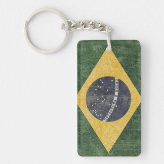 Recuerdo del llavero de la bandera del Brasil