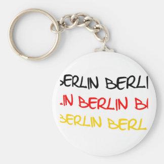Recuerdo del logotipo de Berlín, Alemania Llavero Redondo Tipo Chapa