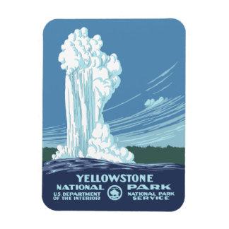 Recuerdo del parque nacional de Yellowstone Imán