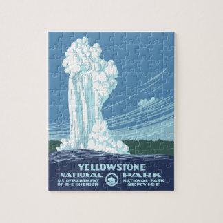 Recuerdo del parque nacional de Yellowstone Puzzle
