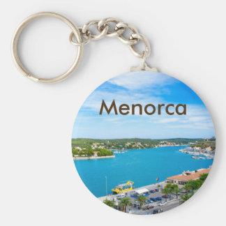 Recuerdo del puerto de Menorca Mahon Llavero Redondo Tipo Chapa