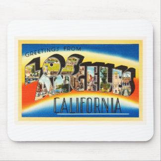 Recuerdo del viaje del vintage de Los Ángeles Alfombrilla De Ratón