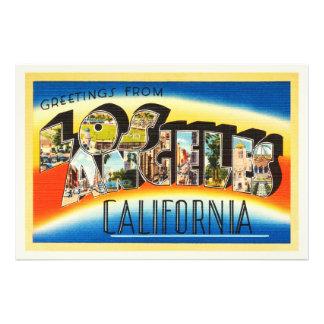 Recuerdo del viaje del vintage de Los Ángeles Cojinete