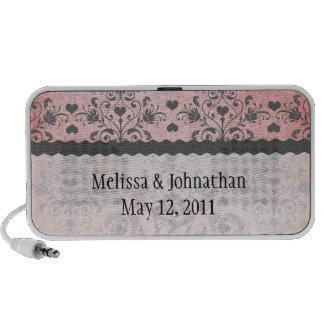 recuerdo gris elegante del boda del damasco del re iPhone altavoces
