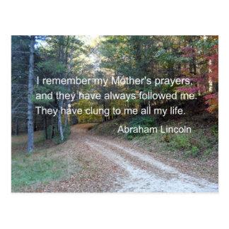 Recuerdo los rezos de mi madre… postal