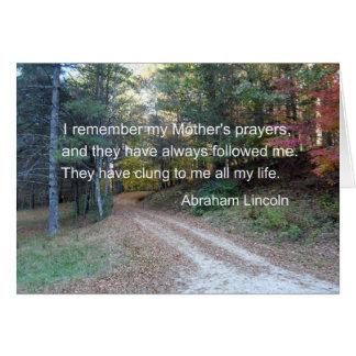 Recuerdo los rezos de mi madre… felicitacion