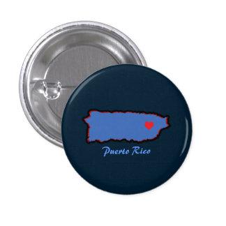 Recuerdo: Mapa de Puerto Rico: Pin Chapa Redonda De 2,5 Cm
